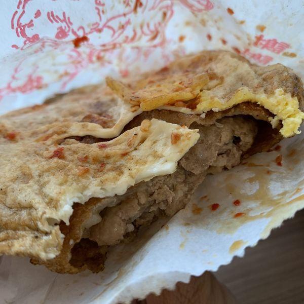竹北中正西路新社豬肉餡餅。竹北下午茶點心。