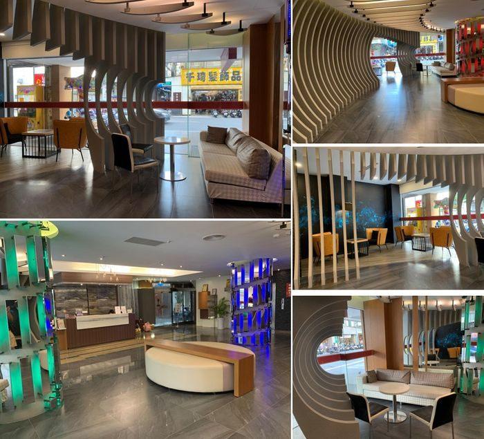 悅豪大飯店新竹館。一樓大廳休息區