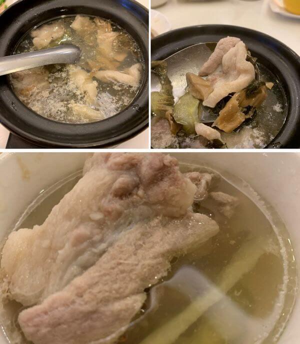 全家福客家菜館竹北館。福菜肉片湯