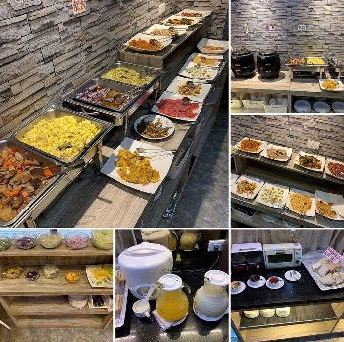[礁溪住宿] 福岡6號溫泉飯店。早餐菜色