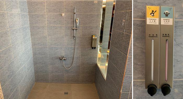 悅豪大飯店新竹館。淋浴區