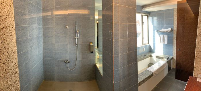 悅豪大飯店新竹館。精緻商務防浴室