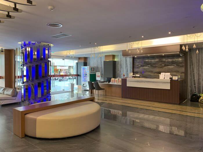 悅豪大飯店新竹館。一樓大廳