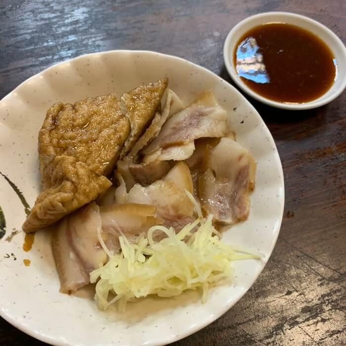 [新竹美食] 阿明滷肉飯,豬頭皮