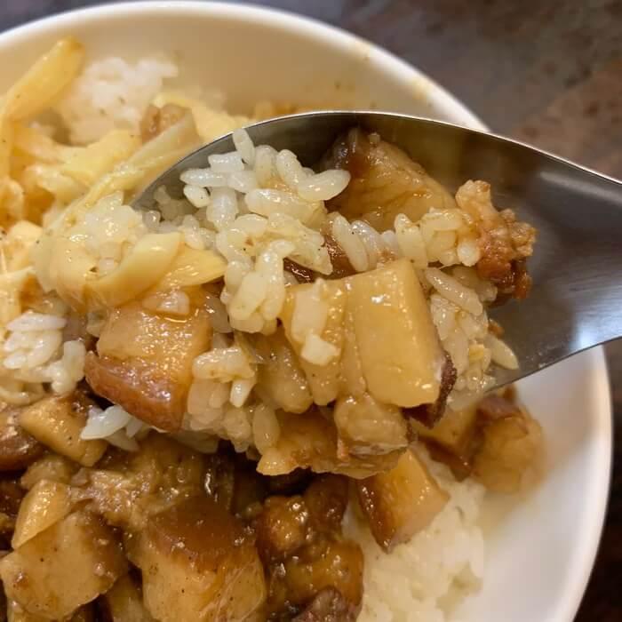 [新竹美食] 阿明滷肉飯,肥瘦相間的滷肉