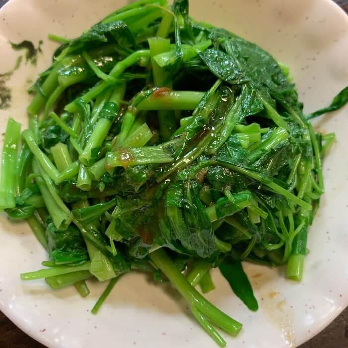 [新竹美食] 阿明滷肉飯,燙青菜1