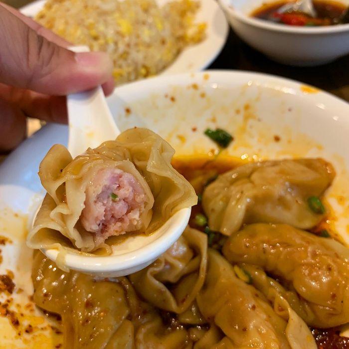[中永和美食] 五草車中華麵食館永和店。紅油蝦仁抄手3