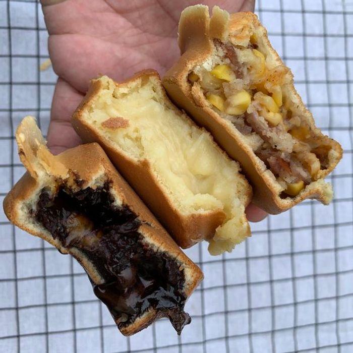 [新竹甜點] 路易獅紅豆車輪餅。三種口味一次滿足