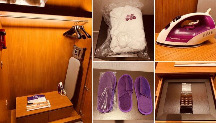 新竹芙洛麗大飯店/衣櫃內擺設