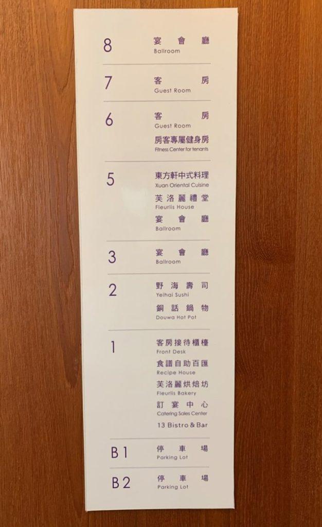 新竹芙洛麗大飯店/樓層配置