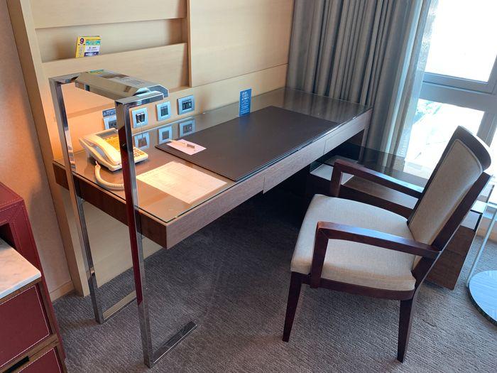 [台南安平住宿]臺邦商旅。商務商人房辦公桌