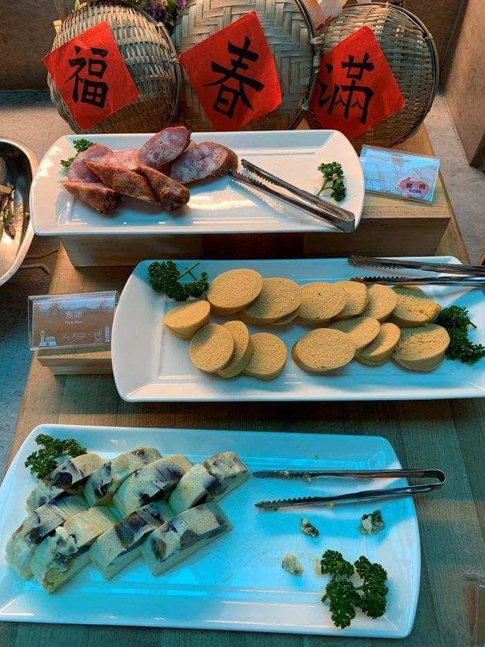 [台南安平住宿]臺邦商旅。早餐香腸、魚卵、三色蛋
