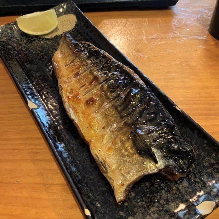 [竹北美食]樂陽食堂光明三路店。烤鯖魚