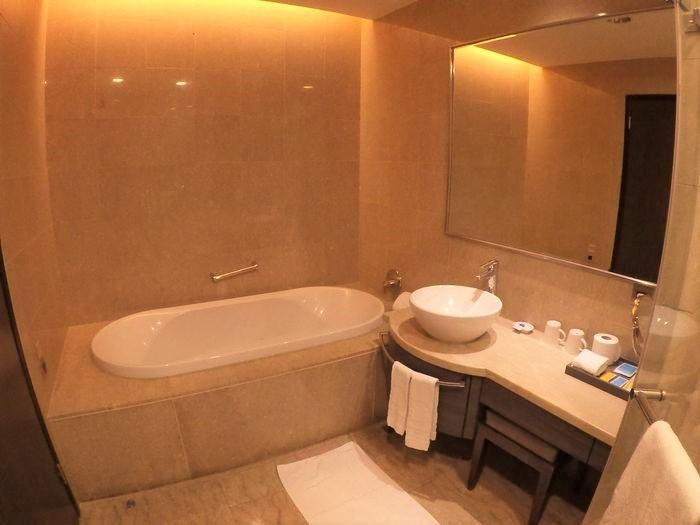 [台南安平住宿]臺邦商旅。商務商人房浴室浴缸