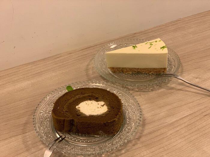 新竹竹北二街咖啡/焙茶生乳捲/檸檬生乳酪蛋糕