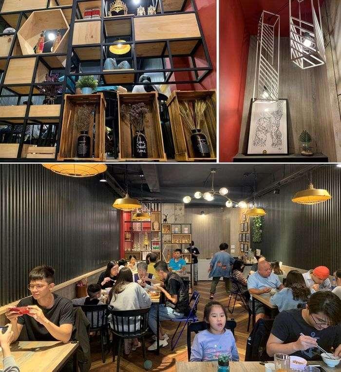 新竹竹北泰式異國料理/505THAI泰式定食/二樓內用區和樓梯間精美擺設