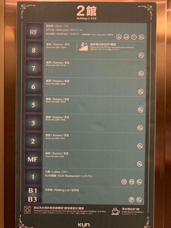 台中逢甲住宿推薦/KUN HOTEL/夜市附近高CP值飯店/走路5分鐘到夜市/樓層介紹