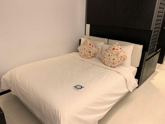台南東區住宿/老爺行旅The Place Tainan/台南住宿飯店酒店推薦/設計風格結合在地元素飯店雙人房床