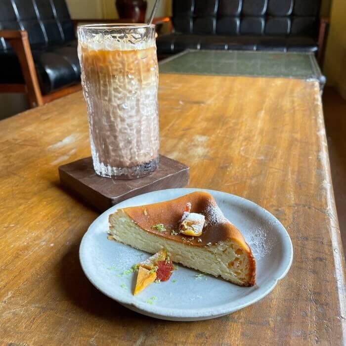 新竹北埔老街老屋咖啡廳/烤巴斯克重乳酪蛋糕