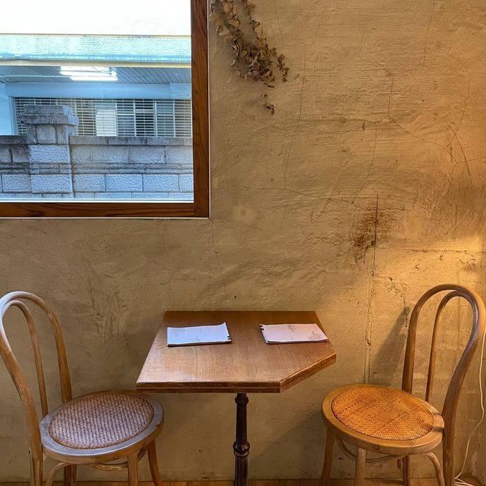 新竹不限時咖啡廳推薦/貳參咖啡/一樓雙人座