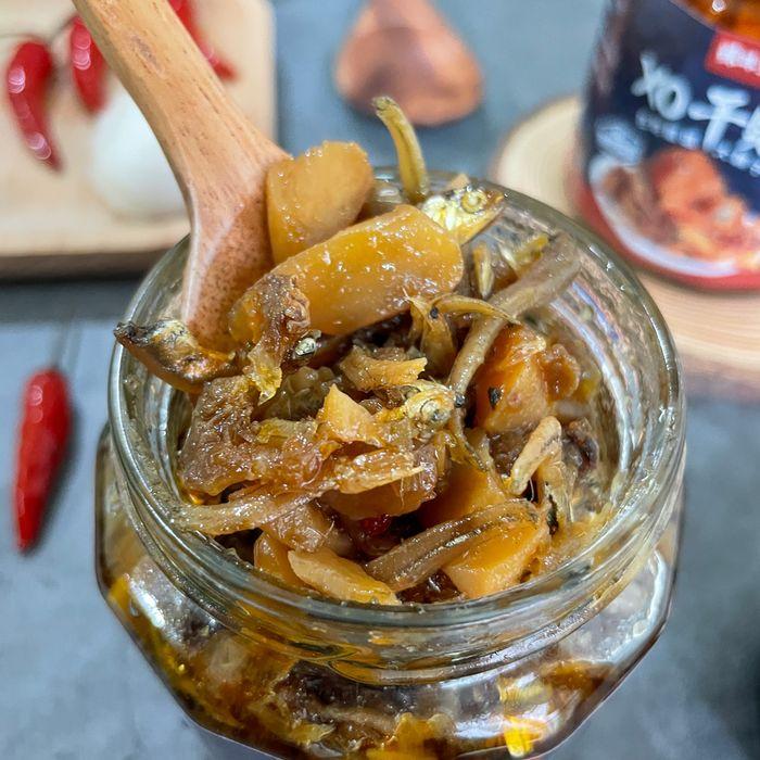 [宅配美食]辣味豆哥-XO干貝醬/團購台灣伴手禮/居家簡單料理必備/滿滿的小魚乾和干貝